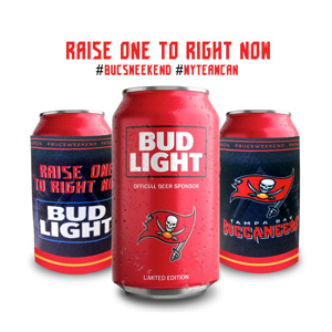 Budweiser - Custom Can Coolers for every NFL team.