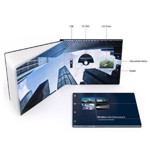 Video Book with multiple pages, 2.4inch screen, 4 menu buttons and hard cover