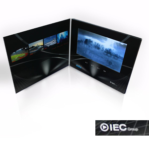 "Video Brochure - 10"" screen, 4 menu buttons and Card Stock"