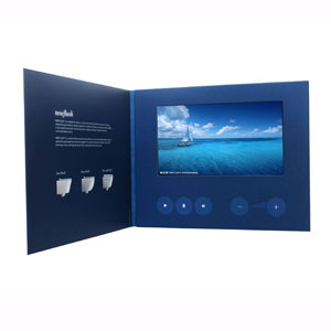 "Video Brochure - 7"" screen, 5 menu buttons and Card Stock"
