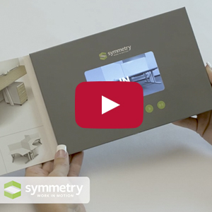 "Video Brochure - 4.3"" Screen, 5 Menu Buttons, Card Stock - Product Example: Symmetry"