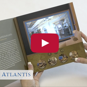 "Video Brochure - 7"" Screen, Multiple Videos, 5 Menu Buttons - Product Example: Atlantis"