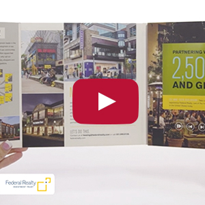 "Video Brochure - 7"" Screen, 6 Menu Buttons - Product Example: Federal Realty"