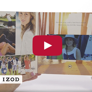 "Video Brochure - 7"" Screen, 1 Menu Button, Soft Card Stock - Product Example: IZOD"