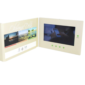 "Video Brochure - 10"" screen, 5 menu buttons and Card Stock"