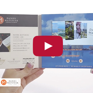 "Video Brochure - 4.3"" Screen, 4 Menu Buttons, Card Stock - Product Example: Matusiak"