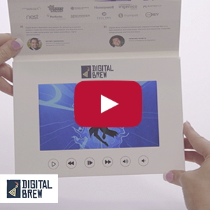 "Video Brochure - 7"" Screen, 6 Menu Buttons, Soft Card Stock - Product Example: Digital Brew"