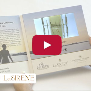 "Video Brochure - 7"" Screen, Multiple Videos, 4 Menu Buttons - Product Example: LaSirene"