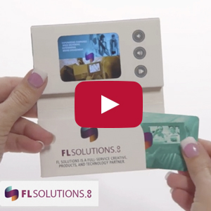 "Video Business Card - 2.4"" screen, business card pocket, three buttons, card stock cover"