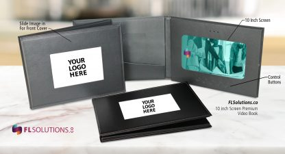 Ready-2-Go R2G 10 inch Premium Leatherette Cover Video Brochure Video Folder