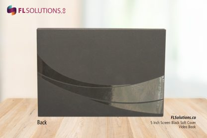 Ready-2-Go R2G Video Brochure 5 inch by 7 inch Black Soft Cover Back