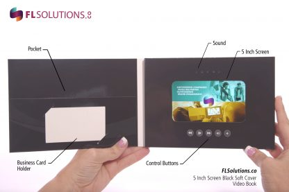 Ready-2-Go R2G Video Brochure 5 inch by 7 inch Black Soft Cover Inside
