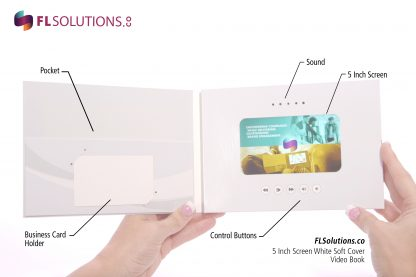Ready-2-Go R2G Video Brochure 5 inch by 7 inch White Soft Cover Inside