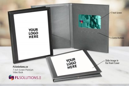 Ready-2-Go R2G 7 inch Premium Leatherette Cover Video Brochure Video Folder