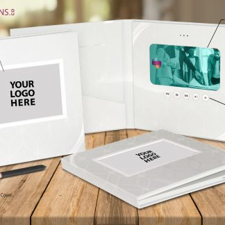 Ready-2-Go R2G 7 inch White Hard Cover Video Brochure Video Folder