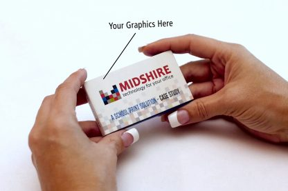 Video Business Card Cover View - Custom Branding Included - Midshire