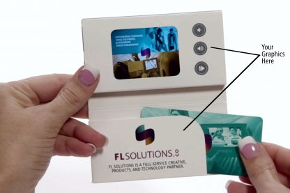 Video Business Card Inside View with Pocket - Custom Branding Included - FL Solutions
